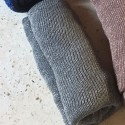 Stola lurex grigio argento