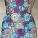 Tubino in pizzo multicolore viola e azzurro
