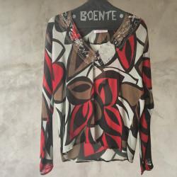 Blusa crepe georgette multicolor