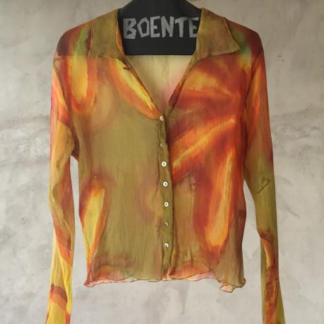 Camicia crepe chiffon multicolor