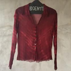 Camicia crepe chiffon rosso