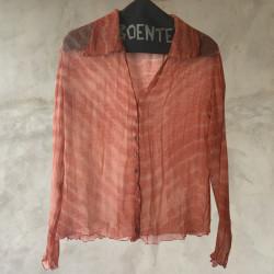 Camicia crepe chiffon rosa
