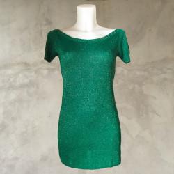 T-Shirt lurex verde