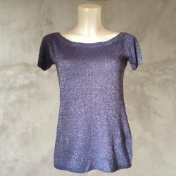 T-Shirt lurex lavanda argento
