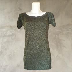 T-Shirt lurex nero oro